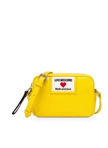 Love Moschino   Marka Logolu Omuz Askılı Çanta Kadın Çanta Jc4033Pp1Clc140A Sarı
